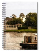 Looking At The Boardwalk Gazebo Walt Disney World Spiral Notebook