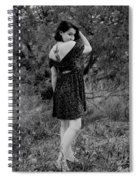 Looking Back In Black And White Spiral Notebook