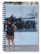 Looking Back In Time - Lisbon Spiral Notebook