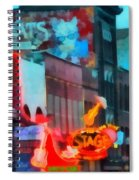 Looking Down Broadway In Nashville Tennessee Spiral Notebook