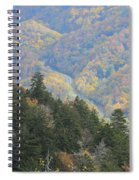 Looking Down On Autumn From The Top Of Smoky Mountains Spiral Notebook