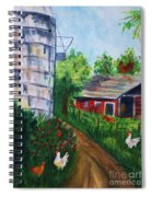 Looking Down On The Farm Spiral Notebook