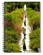Looking Down Reflection Canal Spiral Notebook