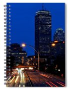 Looking Down The Mass Pike From The Brookline Ave Bridge Spiral Notebook