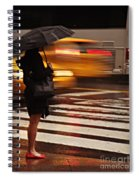 Looking For A Taxi - Rush Hour New York Spiral Notebook
