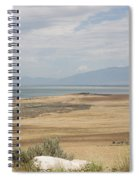 Looking North From Antelope Island Spiral Notebook