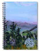 Looking Out From Top Of Jay Peak  Spiral Notebook