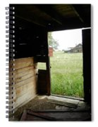Looking Out Old Barn Spiral Notebook