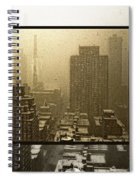 Looking Out On A Snowy Day - Nyc Spiral Notebook
