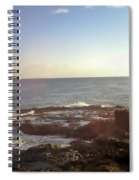 Looking Out Over The Ocean Spiral Notebook