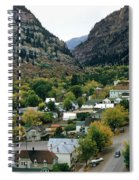 Looking Over Ouray From The Sutton Mine Trail Circa 1955 Spiral Notebook