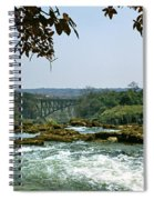 Looking Over The Top Of The Victoria Spiral Notebook