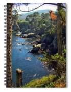 Looking Through The Trees At Point Lobos Spiral Notebook