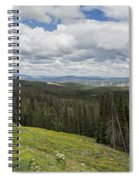Looking To The Canyon - Yellowstone Spiral Notebook