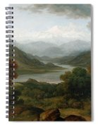 Looking Towards The Val Daosta, Bernese Spiral Notebook