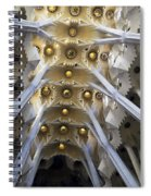 Looking Up At The Sagrada Familia In Barcelona Spiral Notebook