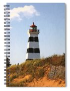 Looking Up From The Dunes At West Point Light Spiral Notebook