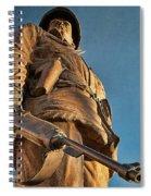 Looking Up To A Hero In Pueblo Colorado Spiral Notebook