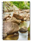 Looking Upstream The Colorado St Vrain River Spiral Notebook