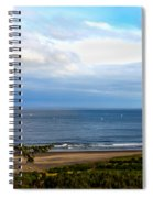 Looking West At The Fishing Boats Spiral Notebook