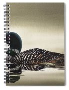 Loon In Still Waters Spiral Notebook