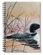 Loon Sunset Spiral Notebook