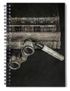Lorgnette With Books Spiral Notebook