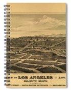 Los Angeles 1877 Spiral Notebook