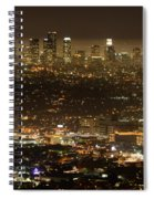 Los Angeles At Night Spiral Notebook