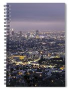 Los Angeles At Night From The Griffith Park Observatory Spiral Notebook