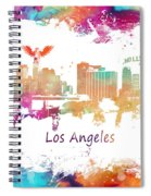 Los Angeles California Skyline Colored Spiral Notebook