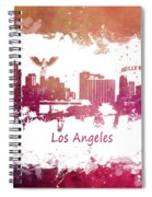 Los Angeles California Skyline Spiral Notebook