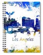 Los Angeles California Skyline Yellow Blue Spiral Notebook