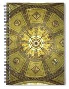 Los Angeles City Hall Rotunda Ceiling Spiral Notebook