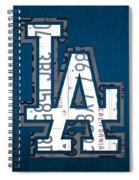 Los Angeles Dodgers Baseball Vintage Logo License Plate Art Spiral Notebook
