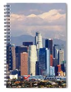 Los Angeles Skyline With Mountains In Background Spiral Notebook