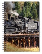 Los Pinos Bridge And Cattle Train Spiral Notebook