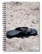 Lost Flipflop Spiral Notebook