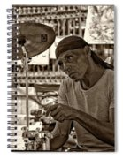 Lost In The Beat Sepia Spiral Notebook