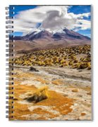 Lost In The Bolivian Desert Framed Spiral Notebook