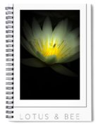 Lotus And Bee Poster Spiral Notebook