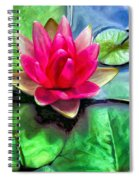 Lotus Blossom And Cloud Reflection Spiral Notebook