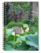 Lotus Flower In Lily Pond Spiral Notebook