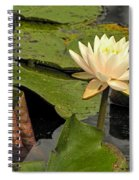 Lotus Flower In White Spiral Notebook