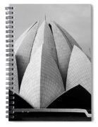 Lotus Temple - New Delhi - India Spiral Notebook