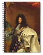 Louis Xiv In Royal Costume, 1701 Oil On Canvas Detail Of 59867 Spiral Notebook