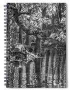 Louisiana Bayou - Bw Spiral Notebook