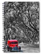 Louisiana Dream Drive Bw Spiral Notebook