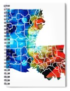 Louisiana Map - State Maps By Sharon Cummings Spiral Notebook