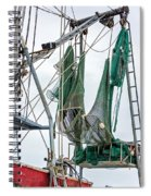 Louisiana Shrimp Boat Nets Spiral Notebook
